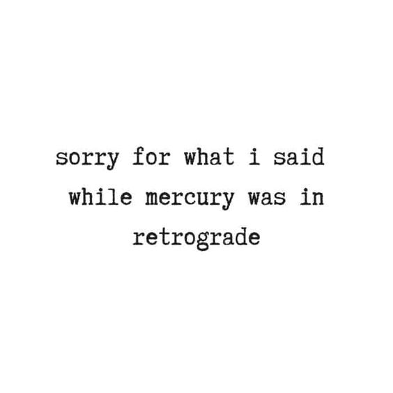 Blame it on Mercury